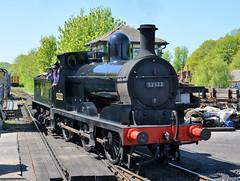 52322 at Tunbridge Wells (davids pix) Tags: 52322 lancashire yorkshire aspinall 1896 horwich works 1300 preserved steam lyr locomotive monochrome tunbridge wells station spa valley railway 2018 05052018