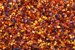 Red chili peppers texture background (Taco Shop Tyler) Tags: background chili close closeup crushed detail fiery flakes food hot macro pepper red seasoning seeds spice spicy tasty texture textured above mexican