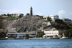 Aden - view from a boat (motohakone) Tags: jemen yemen arabia arabien dia slide digitalisiert digitized 1992 westasien westernasia ٱلْيَمَن alyaman kodachrome paperframe