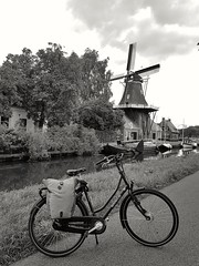 Pedal, Water, Wind (katy1279) Tags: bicyclewindmillcanalnetherlandscyclingheaven