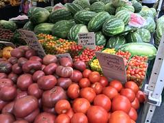 Tomatoes, watermelon at Underwood Family Farms (TomChatt) Tags: food farmersmarket