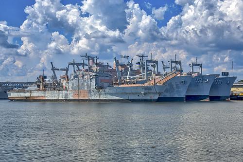 Philadelphia Navy Yard - mothball fleet, From FlickrPhotos
