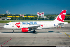 [PRG.2016] #Czech.Airlines #CSA #Airbus #A319 #OK-NEN #awp (CHR / AeroWorldpictures Team) Tags: csa czech airlines airbus a319112 cn 3436 eng 2x cfmi cfm565b63 reg oknen history aircraft first flight test davyj built site hamburg xfw germany delivered czechairlines ok config cabin cy135 plane aircrafts airplane a319 apron twy prague airport prg planespotting nikon d300s nikkor 70300vr raw lightroom aeroworldpictures awp chr 2016 lkpr