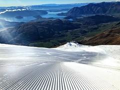 fresh groomed pistes with a view, Treble Cone Ski area JDS skiing NZ (india_snaps) Tags: snow lakewanaka skislope nz trebleconeskiarea jdsskiing skiing