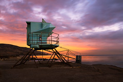 3 (Andy Kennelly) Tags: malibu 3 sunset lifeguard tower clouds