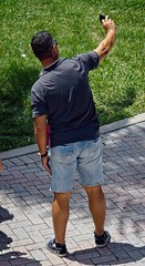Man with selfie 10 (LarryJay99 ) Tags: man men guy guys dude male studly manly dudes handsome cutoffs jeancutoffs jeans legs sunshades sunglasses musculararms hairyarms hairyman nape virile butts buttsinclothings bulging masculinity