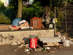 My home is my castle. (remember moments) Tags: dietmarvollmer myhomeismycastle livingroom homeless obdachlos halal proteinpulver garbage müll cologne köln höhenbergfuldaerstr