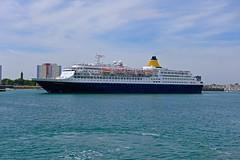 SAGA SAPPHIRE sailing from Portsmouth (Ugborough Exile) Tags: ships portsmouth hampshire hants england uk sony rx100iv 2018