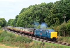 55019. (curly42) Tags: 55019 class55 deltic englishelectric napier royalhighlandfusilier gcr railway transport preserveddieselloco kinchleylane railwaypreservation locohauled greatcentralrailway gcrdieselgala2018
