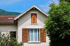 Around Grenoble, France (Haytham M.) Tags: france grenoble alps trees tree shutters windows window home house