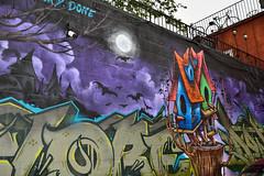 Bird Houses (Rackelh) Tags: art building graffiti alley colours toronto ontario canada