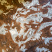 Texture of mottled white and brown marble