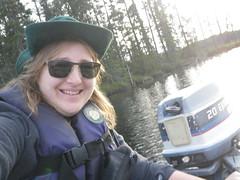 2018-09-09 Last Fishing Trip 4 (s.kosoris) Tags: skosoris pentaxoptiowg1 wg1 pentax huronian camp camping fishing fish me selfie boat motor