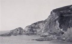 Cliffs at Combe Martin Devon 1950 (Bury Gardener) Tags: bw blackandwhite oldies old vintage snaps 1950s 1950 england devon uk britain