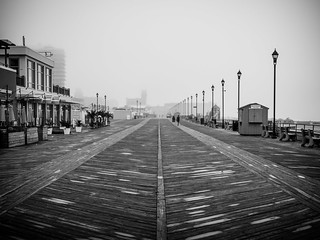 Foggy Morning, Asbury Park Boardwalk (Asbury Park, NJ)