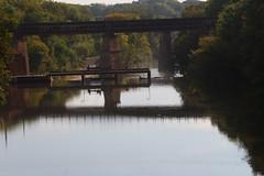 Iowa River Dam (pics by ben) Tags: iowafalls iowa ellsworth hardin walk northiowa iowariver midwest