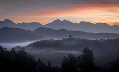 St. Thomas Church (d.g.photos) Tags: slovenia landscape mist fog morning sunrise