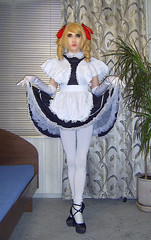 92 (Jessica_Ai) Tags: tights transsexual transvestite tgirl tranny trans tg tv sissy french maid