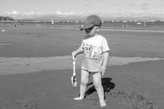 Beach Hamish (timnutt) Tags: 35f2wr 35mm fujifilm sea acros wales llyn beach ocean monochrome lleyn child mono fuji bw xt2 family blackandwhite children holiday