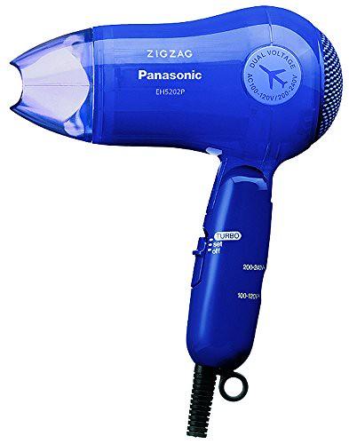 Panasonic Turbo-Dry ZIGZAG Hair Dryer EH5202P-A Blue | AC100-120V, 200-240V (Japan Model) For Sale