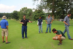 Dr. Frank Rossi teaching at Golf Course Field Day 2013 (The NYSIPM Image Gallery) Tags: turfgrass ipm nysipm newyork cornelluniversity usda cppm nifa turf insect disease learning bethpage parks golf management pest nysipmimagegallery ipmimagegallery