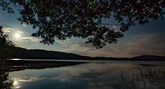 Mondspiegelung im Laacher See (clemensgilles) Tags: rheinlandpfalz deutschland caldera vulkan lakeside lake see moonshine moonlight nachtfotografie night germany beautiful eifel