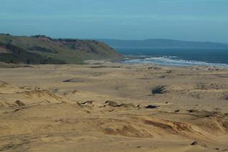 Las dunas y su camino al mar