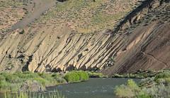 A river, erosion and a game trail (maytag97) Tags: maytag97 nikon d750 idaho erosion ash cinder nature natural outdoor outside hill hillside arid desert slope