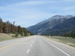 On the road to Edmonton, Alberta inside our family motorhome (jimbob_malone) Tags: 2018 highway16 alberta