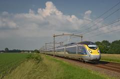 EST 9161 @ Oudenbosch (Wesley van Drongelen) Tags: sncf société societe nationale chemins fer français francais tgv grande vitesse série eurostar est eil siemens velaro e320 serie br class type 374 4000 oudenbosch trein train zug