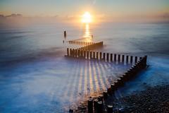 Dawn over the Groynes (LKB_Photography) Tags: norfolk seascape canon5d canon leefilters longexposure longexposures bigstopper caister coast england seaside