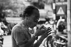 Man smoking pipe, Hanoi, Vietnam (joel.hayter) Tags: travel vietnam asia hanoi bw portrait smoking pipe sony a6000 alpha