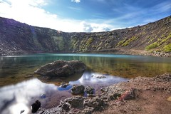 Kerid crater Iceland shot with the A7RIII and 16-35GM in combination with NISI v5 pro CPL and ND10 filters (_Yorick_) Tags: ngc iceland sony gm gmaster 1635mm a7riii a7m3 kerid crater lake longexposure nisi nd10