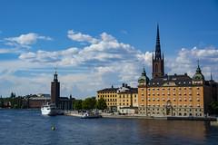 Stockholm (Rudi Pauwels) Tags: sverige sweden schweden stockholm stadshuset cityhall riddarholmskyrkan riddarholmen centralbron riddarfjaerden summer2018 zoom tamron tamron18270mm nikon d7100 nikond7100