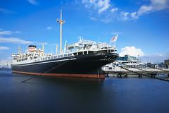 Hikawamaru 「氷川丸」国の重要文化財 (uko2) Tags: dp0quattro sigmadp0quattro sky ship boat water sea vessel