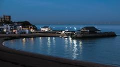 Viking Bay (pauldgooch) Tags: grandmansions england unitedkingdom gb broadstairs viking bay harbour blue hour lights thanet kent beach sea seaside coast bleak house classicchrome fujifilm xt2 jpg
