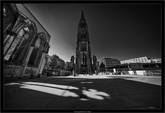 Hamburg, Mahnmal St. Nikolai (Dierk Topp) Tags: a7rii a7rm2 bw hh ilce7rii ilce7rm2 laowa sonya7rii architecture churches hamburg kirche monochrom sw sony superwide ultrawideangle wideangle
