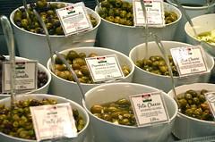 Zara's olives (afagen) Tags: vancouver britishcolumbia bc canada granvilleisland granvilleislandpublicmarket publicmarket market food zarasdeli zarasitaliandeli deli zaras olives