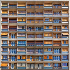 French Touch (Paul Brouns) Tags: windows window screens square balconies balcony facade france франция фасад архитектура architektur architectuur architecture
