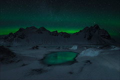 Vestrahorn (Jose Cantorna) Tags: montaña mountain landscape paisaje nikon d610 vestrahorn aurora boreal nieve snow cielo sky iceland islandia noche night star estrellas