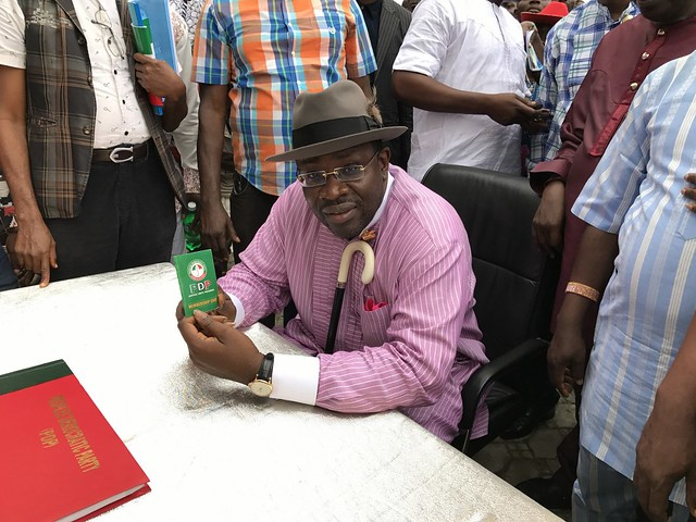 HSDickson- His Excellency During Revalidation of PDP membership Excercise. 5th August 2018