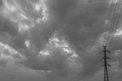 Pole (Jontsu) Tags: pole sky clouds simple minimal minimalistic fujifilm fujifilmxe2 helios 58mm f2 suomi finland black white bw contrast