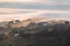 Chiaramonti Valley (nicolamarongiu) Tags: landscape paesaggio valle nuvole case monti chiaramonti sunrise alba paese sardegna sardinia italy teleobiettivo canon6d colori panoramic
