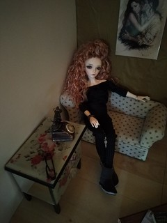 Roxanne, chilling at home