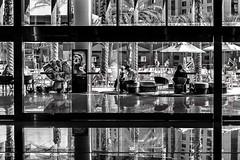 Vegas 2017-263 (Tasmanian58) Tags: life street vegas bw nb noirblanc blackwhite sony a7ii contax zeiss 50mm 1750mm light glass people water sun day planar