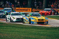BMW M6 GT3 vs Mercedes AMG GT3 (Garret Voight) Tags: 2018 bmw m6 gt3 mercedes amg turnermotorsport robbyfoley markuspalttala mercedesamgteam rileymotorsports benkeating jeroenbleekemolen gtd racing motorsports autoracing car racecar sports weathertechsportscarchampionship uscc imsa automobile motorracing automotive roadamerica elkhartlake wisconsin vehicle track circuit corner speed motion blur panning
