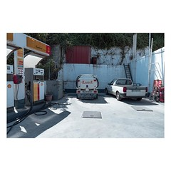 Sidari, Corfu, August 2018 (Number Johnny 5) Tags: tanker tamron d750 2470mm petrol corfu space topographics filling light pump shadows station urban imanoot banal sidari johnpettigrew car observations manhole nikon mundane gas documenting shell
