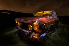 RUSTY RED (avilchesrico) Tags: lightpainting nocturna car rusty longexposure largaexposicion noche night
