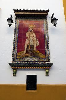 Mosáico azulejos de Cristo