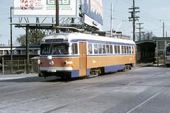 US PA Philadelphia SEPTA-PSTC Red Arrow 22 10-21-1973 69th St (David Pirmann) Tags: pa pennsylvania philadelphia septa redarrow pstc philadelphiasuburbantransco interurban train trolley tram transit railroad
